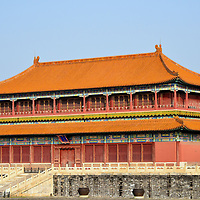 Belvedere of Embodying Benevolence at Forbidden City in Beijing, China<br /> Forbidden City&rsquo;s major buildings are positioned along a central, south-north axis. So, in the interest of exploring the major landmarks, or if you are short of time, your inclination is to race along a straight line and overlook the myriad of architectural treasures on the fringes. Belvedere of Embodying Benevolence is a great example of what you will miss. When originally constructed during the 15th century (since rebuilt twice), Belvedere was named Civil Pavilion (Wen lou). Emperor Kangxi, the fourth in the Qing dynasty reign (1661 &ndash; 1722), conducted poetry contests here. Tiren Ge was later used as an Imperial Household Department storehouse.