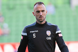 January 19, 2019 - Melbourne, VIC, U.S. - MELBOURNE, VIC - JANUARY 19: Perth Glory defender Ivan Franjic (5) watches on during warm up at the Hyundai A-League Round 14 soccer match between Melbourne City FC and Perth Glory on January 19, 2019, at AAMI Park in VIC, Australia. (Photo by Speed Media/Icon Sportswire) (Credit Image: © Speed Media/Icon SMI via ZUMA Press)