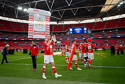 Aaron Wilbraham celebrates after Bristol City win the match 2-0 - Photo mandatory by-line: Rogan Thomson/JMP - 07966 386802 - 22/03/2015 - SPORT - FOOTBALL - London, England - Wembley Stadium - Bristol City v Walsall - Johnstone's Paint Trophy Final.