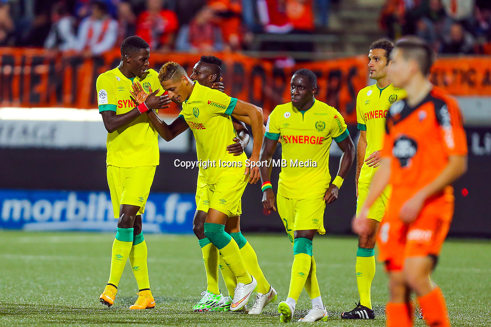 Joie Yacine BAMMOU / groupe nantes - 20.12.2014 - Lorient / Nantes - 19eme journee de Ligue 1 -<br /> Photo : Vincent Michel / Icon Sport