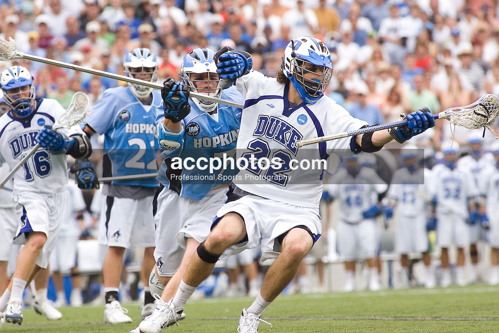 28 May 2007: Duke Blue Devils midfielder Ned Crotty (22) in a 11-12 loss to the Johns Hopkins Blue Jays at M&T Bank Stadium during the NCAA finals in Baltimore, MD.