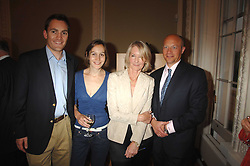 Left to right,  NICK HOWARD, LARISSA PERSONS, SANDRA HOWARD and SHOLTO DOUGLAS-HOME at a party to celebrate the publication of Sandra Howard's book 'Ursula's Stor' held at The British Academy, 10 Carlton House Terace, London on 4th September 2007.<br />