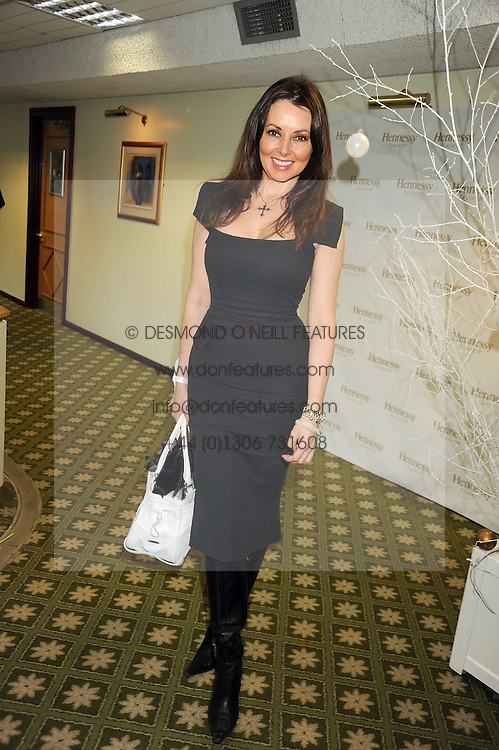 CAROL VORDERMAN at the 2008 Hennessy Gold Cup held at Newbury racecourse, Berkshire on 29th November 2008.<br /> <br /> NON EXCLUSIVE - WORLD RIGHTS