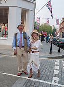 Richard Briggs; Basia Briggs, Pimlico Rd. Jubilee streetparty. London. 29 May 2012.