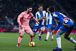 December 8, 2018 - Barcelona, Catalonia, Spain - 10 Leo Messi of FC Barcelona during the Spanish championship La Liga football match between RCD Espanyol v FC Barcelona on December 08, 2018 at RCD Stadium stadium in Barcelona, Spain. (Credit Image: © Xavier Bonilla/NurPhoto via ZUMA Press)