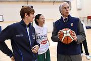 Raffaella Masciadri, Giorgia Sottana, Giovanni Malago<br /> Nazionale Italiana Femminile Senior<br /> Giovanni Malago visita la Nazionale Italiana Femminile Senior<br /> FIP 2017<br /> Roma, 08/11/2017<br /> Foto M.Ceretti / Ciamillo-Castoria