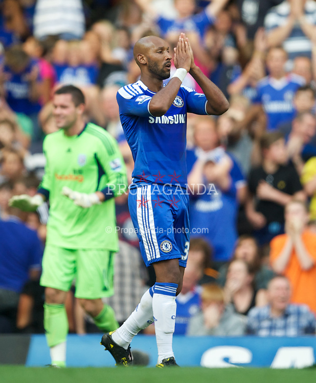 LONDON, ENGLAND - Saturday, August 20, 2011: Chelsea's Nicolas Anelka in action against West Bromwich Albion during the Premiership match at Stamford Bridge. (Pic by David Rawcliffe/Propaganda)