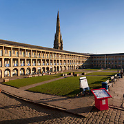 Piece Hall Halifax, opened in 1779 for the trading of cloth, now home to shops cafes and a weekly market.