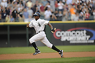 CHICAGO - JUNE 06:  Juan Pierre #1 of the Chicago White Sox runs the bases against the Seattle Mariners on June 6, 2011 at U.S. Cellular Field in Chicago, Illinois.  The White Sox defeated the Mariners 3-1.  (Photo by Ron Vesely)  Subject:  Juan Pierre