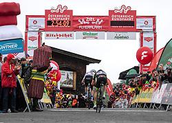 12.07.2019, Kitzbühel, AUT, Ö-Tour, Österreich Radrundfahrt, 6. Etappe, von Kitzbühel nach Kitzbüheler Horn (116,7 km), im Bild v.l. Aleksandr Vlasov (RUS, Gazprom - Rusvelo) Etappensieger, Patrick Schelling (Team Vorarlberg Santic) // f.l. Aleksandr Vlasov of Russia (Gazprom - Rusvelo) stage winner Patrick Schelling of Switzerland (Team Vorarlberg Santic) during 6th stage from Kitzbühel to Kitzbüheler Horn (116,7 km) of the 2019 Tour of Austria. Kitzbühel, Austria on 2019/07/12. EXPA Pictures © 2019, PhotoCredit: EXPA/ Reinhard Eisenbauer