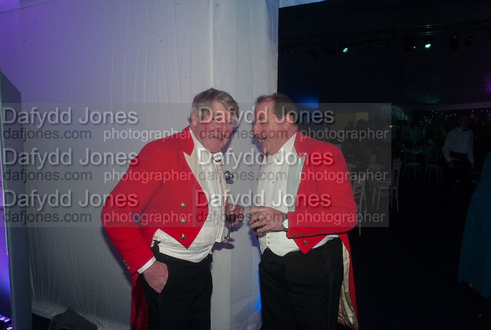 RICHARD MORLEY; BRIAN HENSON, Quorn Hunt Ball, Stanford Hall. Standford on Soar. 25 January 2014