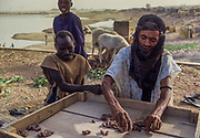 Mopti. Often the touareg, once nomadic warriors of the Sahara, have only the chance to survive selling their poor harwest in the cities.