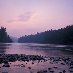 Errol, NH. Androscoggin River in summer.  13 Mile Woods. Sunrise.  Northern Forest, Great North Woods.