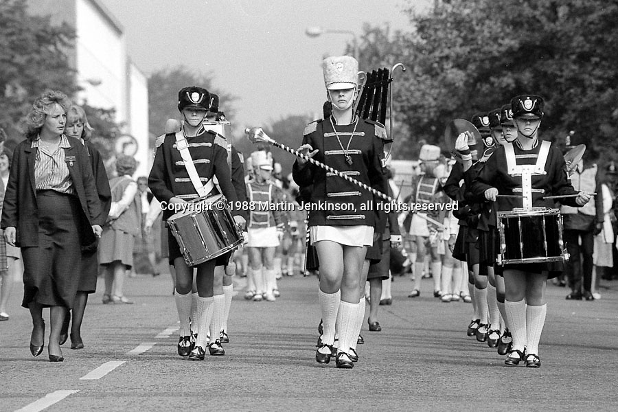 South Kirkby Saxons Jazz Band.1988 Yorkshire Miner's Gala. Wakefield.