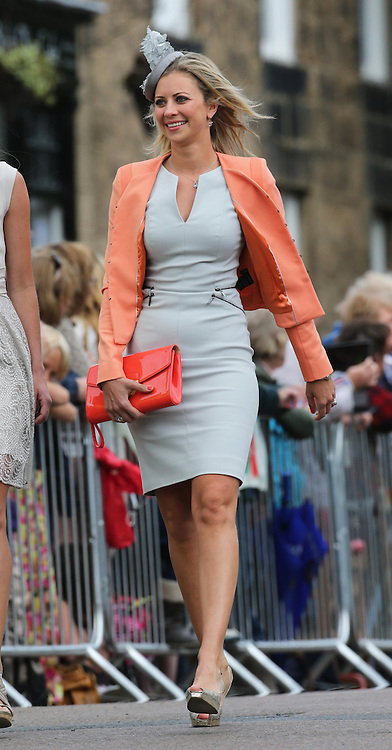 Holly Branson  arriving at the Lady Melissa Percy and Thomas van Straubenzee wedding at St.Michaels Church, Alnwick, Northumberland after their wedding ,Saturday, 22nd June 2013<br /> Picture by:  Stephen Lock / i-Images
