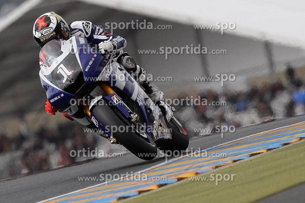 14.05.2011, Le Mans, FRA, MotoGP, Motomondiale Le Mans, im Bild Jorge Lorenzo - Yamaha factory team. EXPA Pictures © 2011, PhotoCredit: EXPA/ InsideFoto/ Semedia +++++ ATTENTION - FOR AUSTRIA/AUT, SLOVENIA/SLO, SERBIA/SRB an CROATIA/CRO CLIENT ONLY +++++