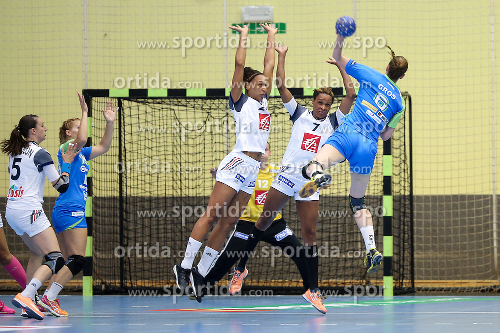 Ana Gros during handball match between National Teams of Slovenia and France in Qualification of 2016 Women's European Championship, on June 13th, in Rdeca Dvorana, Velenje. Photo by Morgan Kristan / Sportida