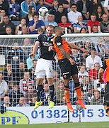 Dundee's James McPake and Dundee United's Mario Bilate - Dundee v Dundee United, SPFL Premiership at Dens Park<br /> <br />  - &copy; David Young - www.davidyoungphoto.co.uk - email: davidyoungphoto@gmail.com