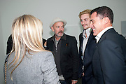SAM TAYLOR WOOD; MICHAEL STIPE; AARON JOHNSON; ANDRE BALAZ, Opening of new White Cube Gallery in Bermondsey. London. 11 October 2011. <br /> <br />  , -DO NOT ARCHIVE-© Copyright Photograph by Dafydd Jones. 248 Clapham Rd. London SW9 0PZ. Tel 0207 820 0771. www.dafjones.com.