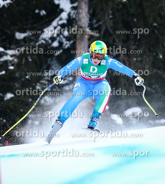 10.02.2013, Planai, Schladming, AUT, FIS Weltmeisterschaften Ski Alpin, Abfahrt, Damen, im Bild Elena Fanchini (ITA) // Elena Fanchini of Italy in action during the ladies Downhill at the FIS Ski World Championships 2013 at the Planai Course, Schladming, Austria on 2013/02/10. EXPA Pictures © 2013, PhotoCredit: EXPA/ Johann Groder