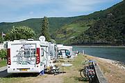 Campingplatz am Rhein, Trechtingshausen Oberes Mittelrheintal, Rheinland-Pfalz, Deutschland | camping site, Trechtingshausen, Upper Middle Rhine Valley, Rheinland-Pfalz, Germany