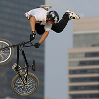 Brandon Dosch competes at the AST Dew Tour Right Guard Open BMX Dirt Finals Friday, July 18, 2008 in Cleveland, OH.