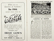 All Ireland Senior Hurling Championship Final, .Brochures,.05.09.1943, 09.05.1943, 5th September 1943, .Antrim 0-4, Cork 5-16,.Minor Dublin v Kilkenny, .Senior Antrim v Cork, .Croke Park, ..Advertisements, Certistyle,..Article, Hurling in Antrim, .