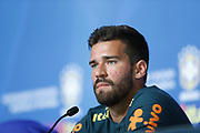 Golkeeper Alisson during the press conference on June 12, 2018 at Yug Sport Stadium in Sochi, Russia - Photo Tarso Sarraf / FramePhoto / ProSportsImages / DPPI