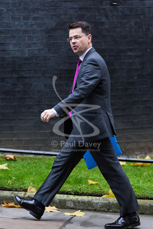 London, November 21 2017. Secretary of State for Northern Ireland James Brokenshire arrives for meetings with leaders of Northern Ireland's two main political parties the DUP and Sinn Fein and British Prime Minister Theresa May at Downing Street. © Paul Davey