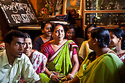 An adult sexual health group in discussion at the FALDA Unit near Kolkata, India. FALDA is supported by the Child In Need Institute (CINI) and its primary focus is educating youth on HIV, sexual and reproductive health issues.  They work throughout 6 local government regions and cover 65,000 youth through 120 drop in centres.