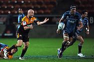 Brendon Leonard gets in out wide. Investec Super Rugby - Chiefs v Blues, Waikato Stadium, Hamilton, New Zealand. Saturday 26 March 2011. Photo: Andrew Cornaga / photosport.co.nz