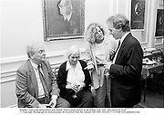 Kingsley Amis,Lady Kilmarnock and Martin Amis.A book launch at the Polish club 1991. film no91645 fr18 © Copyright Photograph by Dafydd Jones 66 Stockwell Park Rd. London SW9 0DA Tel 020 7733 0108 www.dafjones.com