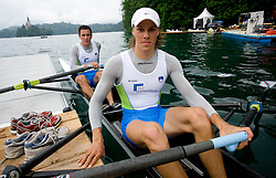 Matevz Malesic (L) and Jure Cvet during finals B at Rowing World Cup  on May 30, 2010, at Bled's lake, Bled, Slovenia. (Photo by Vid Ponikvar / Sportida)