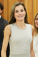 090517 Queen Letizia attends audiences at Zarzuela Palace