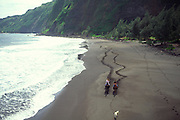 Horseback riding, Waipio Valley, Island of Hawaii, Hawaii, USA<br />