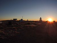 High Desert Test Sites 2013.Sunset at Magdalena Ridge Observatory at 10,600 feet in the Magdalena mountains of the Cibola National forest in Socorro County, NM.