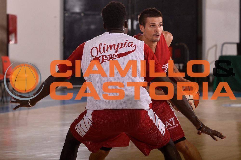 Andrea Cinciarini <br /> EA7 Emporio Armani Olimpia Milano allenamento<br /> Lega Basket Serie A 2016/2017<br /> Bormio 25/08/2016<br /> Foto Ciamillo-Castoria