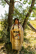Sacajawea, Battle of the Little Bighorn Reenactment, Crow Indian Reservation, Montana, portrayed by Millie Woods