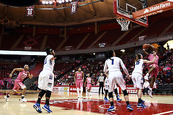 05 February 2016:  Illinois State University Women's Redbird Basketball team hosted the Sycamores of Indiana State for a Play4 Kay game at Redbird Arena in Normal Illinois.