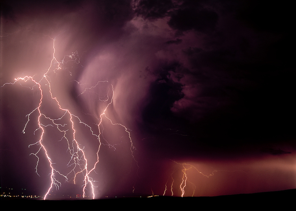 Lightning storm over Grand Junction, Colorado