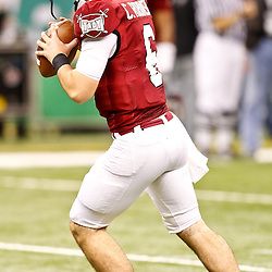 December 18, 2010; New Orleans, LA, USA; Troy Trojans quarterback Corey Robinson (6) during the 2010 New Orleans Bowl against the Ohio Bobcats at the Louisiana Superdome.  Mandatory Credit: Derick E. Hingle