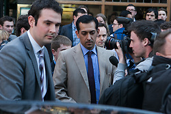 Top horse trainer CHARGED over steroid doping at Sheikh Mohammed's Godolphin stable as bookies forced to refund thousands. Mahmood Al Zarooni leaves after facing a British Horseracing Authority disciplinary panel in High Holborn, London, UK, April 25, 2013. Photo by: Daniel Leal-Olivas / i-Images