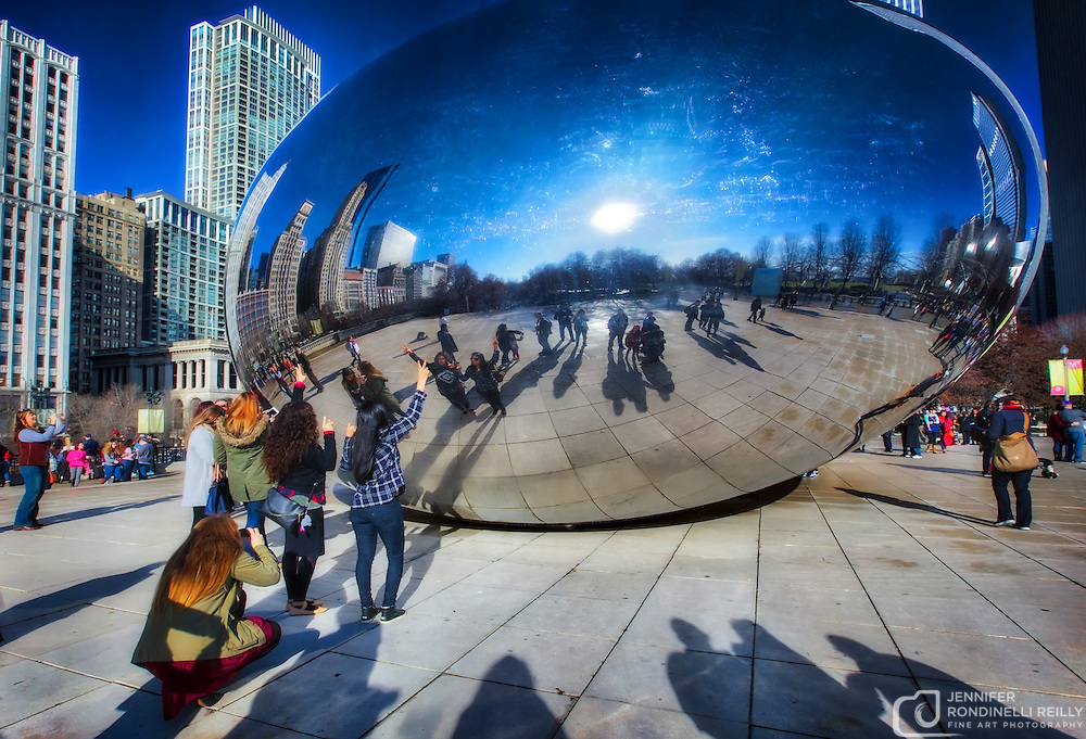 Reflections in The Bean - Chicago