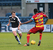 Dundee&rsquo;s Paul McGowan and Partick Thistle&rsquo;s Abdul Osman - Dundee v Partick Thistle, Ladbrokes Premiership at Dens Park<br /> <br />  - &copy; David Young - www.davidyoungphoto.co.uk - email: davidyoungphoto@gmail.com
