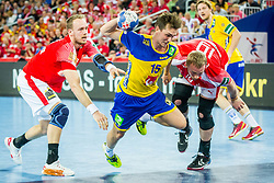 Hampus Wanne (SWE) during handball match between National teams of Denmark and Sweden in Half Final match of Men's EHF EURO 2018, on January 26, 2018 in Arena Zagreb, Zagreb, Croatia. Photo by Ziga Zupan / Sportida