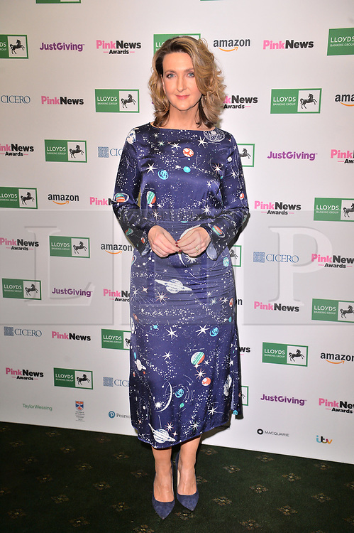 © Licensed to London News Pictures. 17/10/2018. London, UK. Victoria Derbyshire,  attends the Pink News Awards 2018 held at Church House. Photo credit: Ray Tang/LNP
