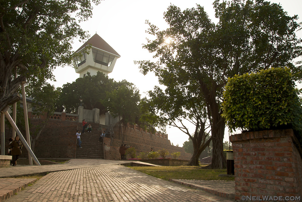 The Anping Fort Tower and inner walls in Tainan, Taiwan.
