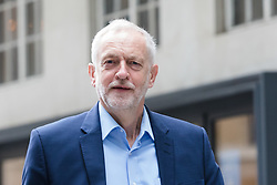 © Licensed to London News Pictures. 23/07/2017. LONDON, UK.  JEREMY CORBYN, Labour Party leader  arrives at BBC Broadcasting House to appear on the Andrew Marr Show.  Photo credit: Vickie Flores/LNP