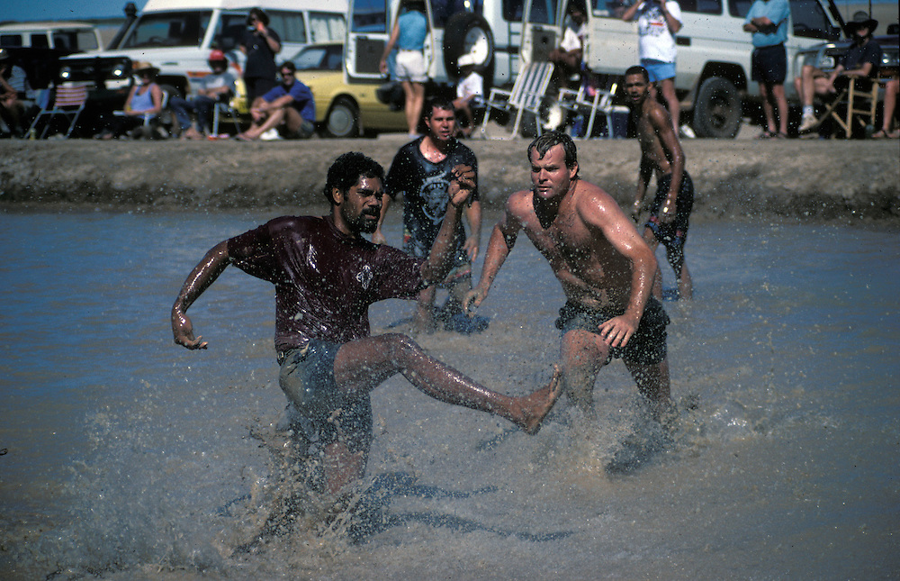 Annual game of mud football held in Derby, The Kimberley, Western Australia