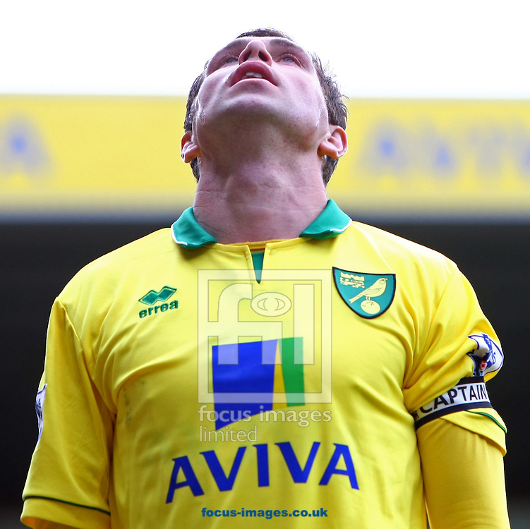 Picture by Paul Chesterton/Focus Images Ltd.  07904 640267.13/05/12.Grant Holt of Norwich rues a missed chance during the Barclays Premier League match at Carrow Road Stadium, Norwich.